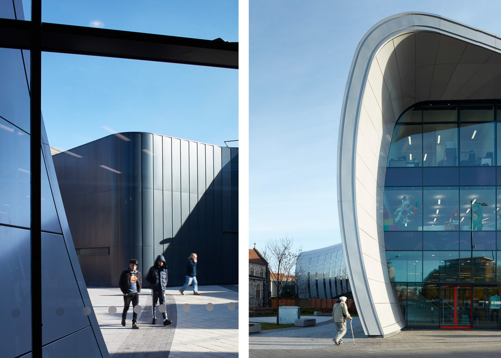 Exteriors of Curve, Slough Blurr architects shot by Matt Clayton