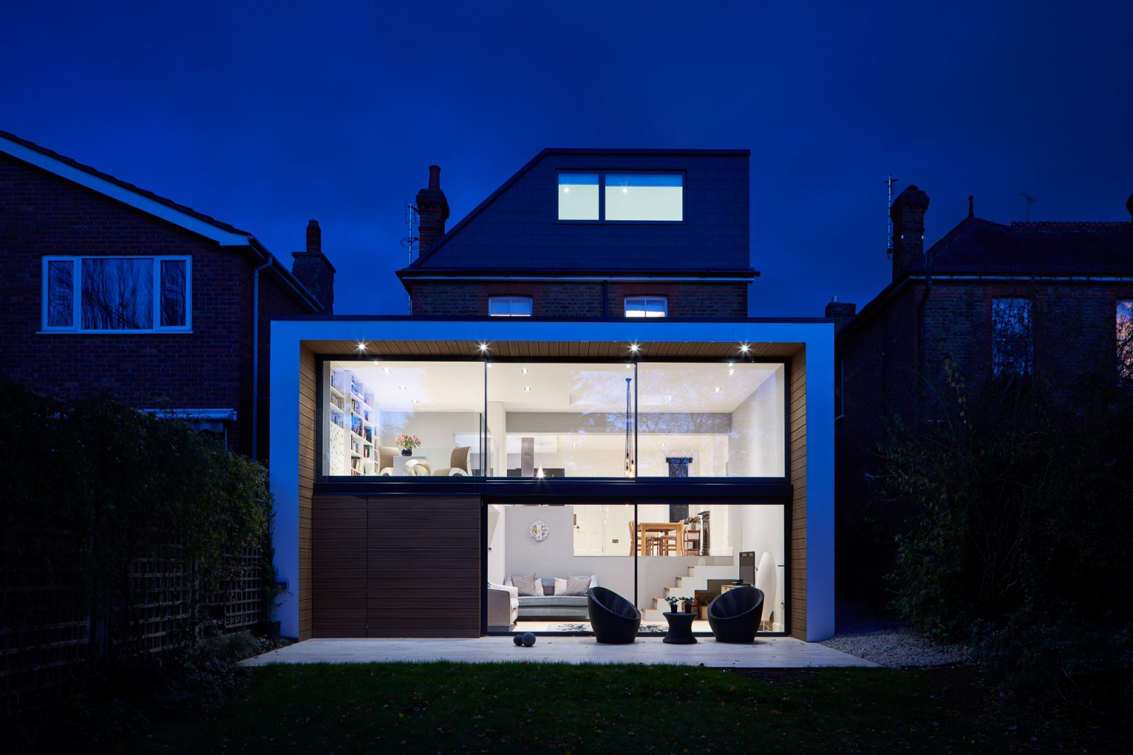 Evening shot of ADE project shot by London Architectural photographer Matt Clayton
