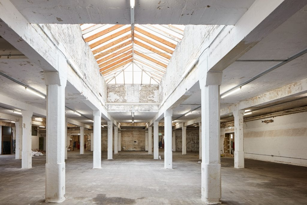 Interior architectural photography by Matt Clayton of Old Truman Brewery, Brick Lane, London