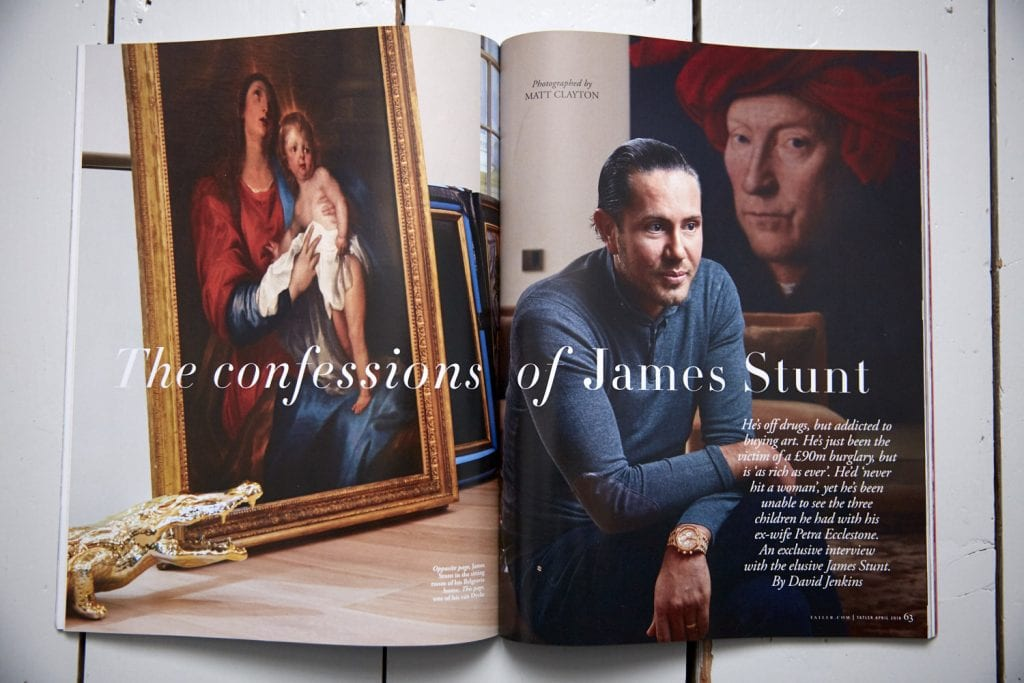 Interior and portrait photography by Matt Clayton in Tatler