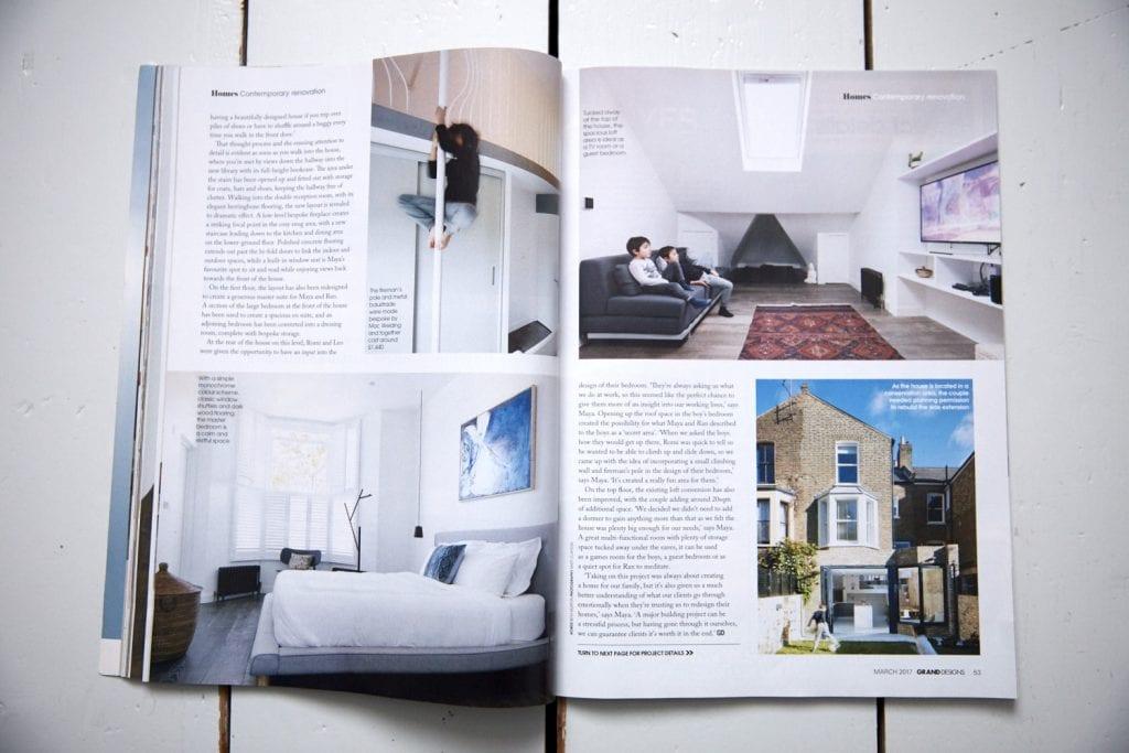 Interior photography by Matt Clayton in Grand Designs Magazine