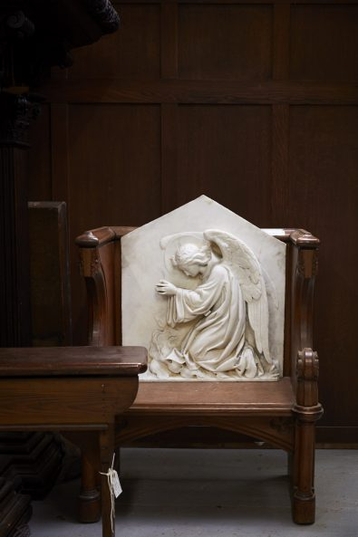 Church Antiques interiors photography by matt clayton - marble statue