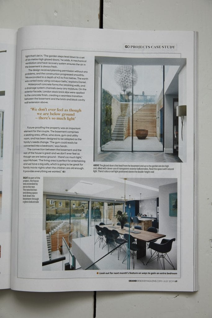 interior photography of Matt Clayton in Grand Designs Magazine