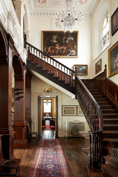 grand staircase Interior photography of Lamport Hall by Matt Clayton