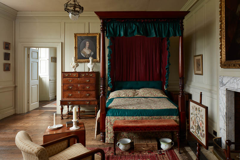 Bedroom, Interior photography of Lamport Hall by Matt Clayton
